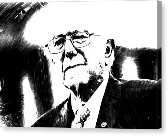 Ted Cruz Canvas Print - Bernie Sanders 1c by Brian Reaves