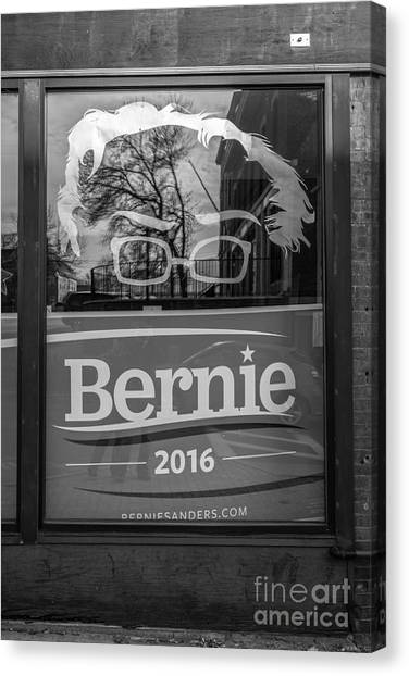 Bernie Sanders Canvas Print - Bernie Sanders Claremont New Hampshire Headquarters by Edward Fielding