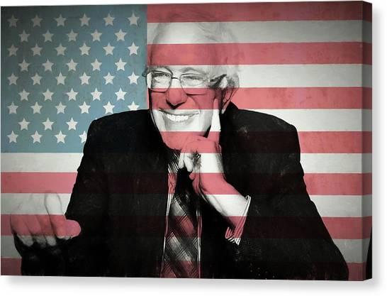 Democratic Politicians Canvas Print - Bernie Sanders by Dan Sproul