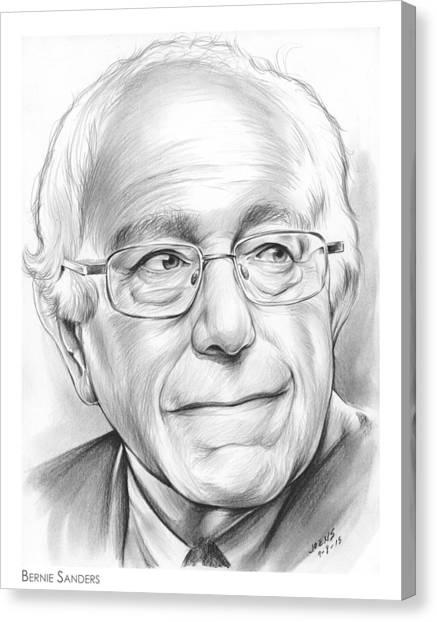 Political Canvas Print - Bernie Sanders by Greg Joens