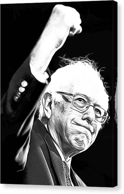 Democratic Politicians Canvas Print - Bernie Sanders by Munir Alawi