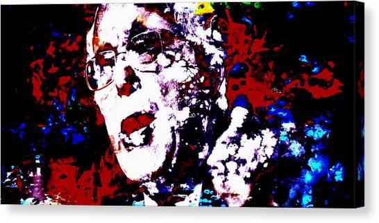 Ted Cruz Canvas Print - Bernie Sanders Paint Splatter 2a by Brian Reaves