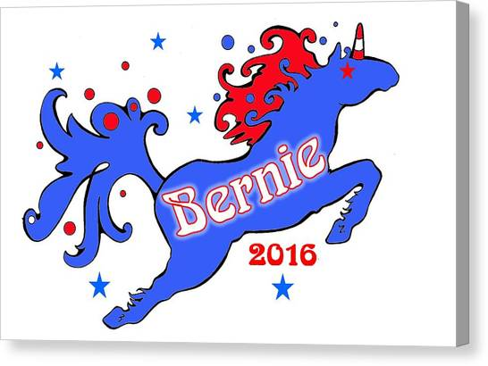 Bernie's Unicorn 2016 Canvas Print