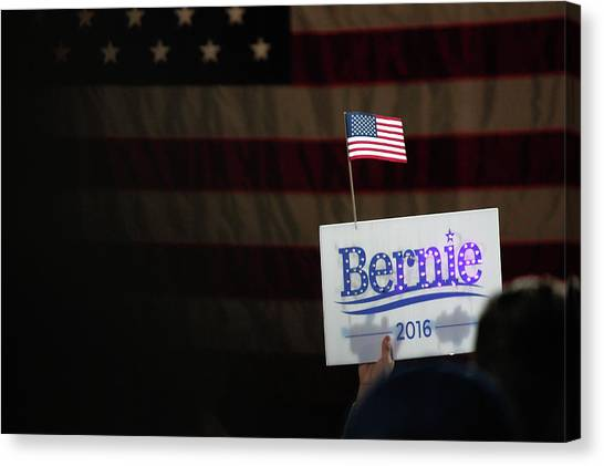 Bernie Sanders Canvas Print - Berning Glow by Nick Mattea