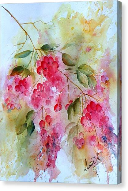 Berries Galore Canvas Print by Lucia Del