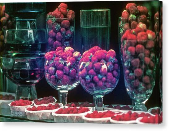 Berries In The Window Canvas Print