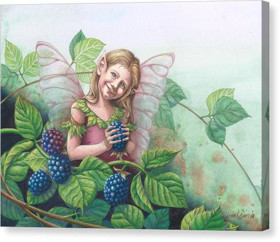 Blackberry Fairie Canvas Print
