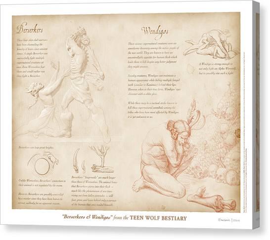 Berserkers And Wendigos Canvas Print