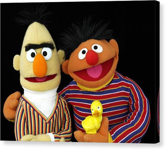 Bert And Ernie Canvas Print