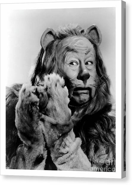 Cowardly Lion In The Wizard Of Oz Canvas Print