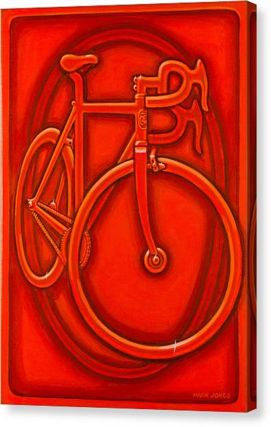 Bespoked In Orange  Canvas Print