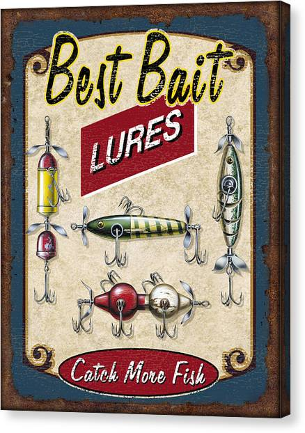 Fathers Day Canvas Print - Best Bait Lures by JQ Licensing