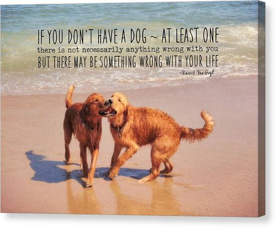 Best Buds Quote Canvas Print by JAMART Photography
