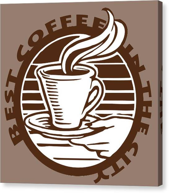 Canvas Print featuring the digital art Best Coffee In The City by Jennifer Hotai