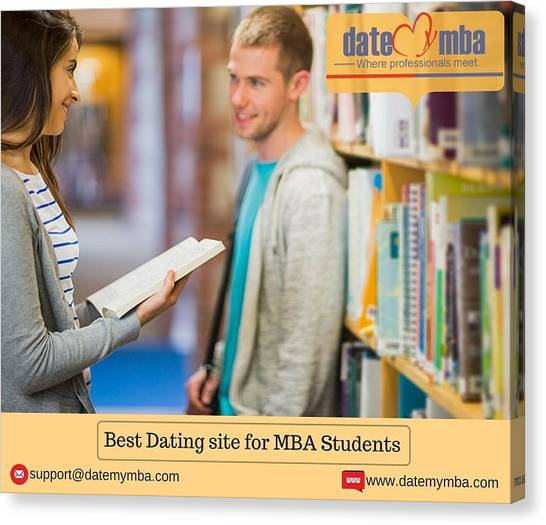 Mba Canvas Print - Best Dating Site For Mba Students by Datemymba Site