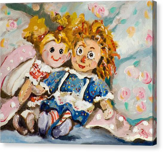 Best Friends Canvas Print by Delilah  Smith