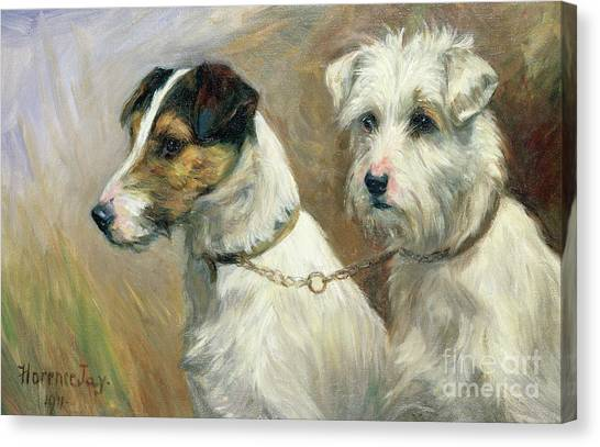 Maltese Canvas Print - Best Friends by Florence Jay