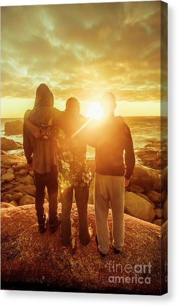Shoulders Canvas Print - Best Friends Greeting The Sun by Jorgo Photography - Wall Art Gallery