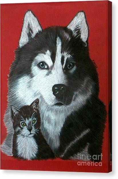 Best Friends Canvas Print by Terri Mills