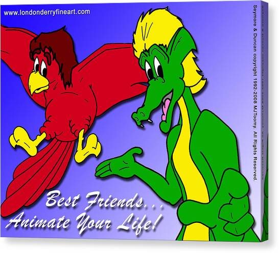 Best Friends...animate Your Life Canvas Print by Michael James  Toomy