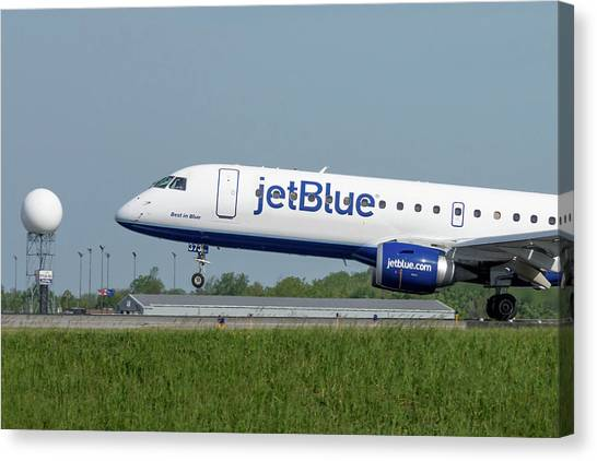 Jetblue Canvas Print - Best In Blue by Guy Whiteley