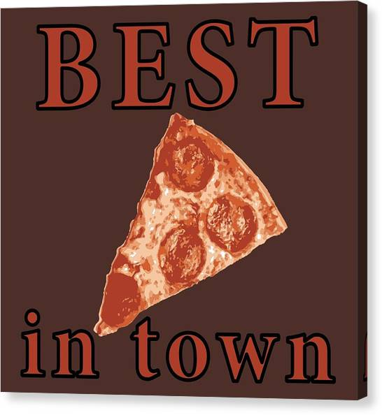 Canvas Print featuring the digital art Best Pizza In Town by Jennifer Hotai