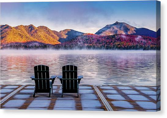 Best Seats In The Adirondacks Canvas Print