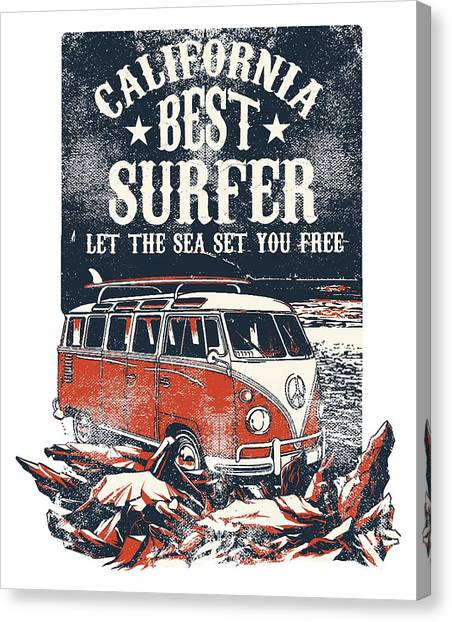 Canvas Print featuring the digital art Best Surfer by Christopher Meade