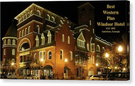 Best Western Plus Windsor Hotel - Christmas -2 Canvas Print
