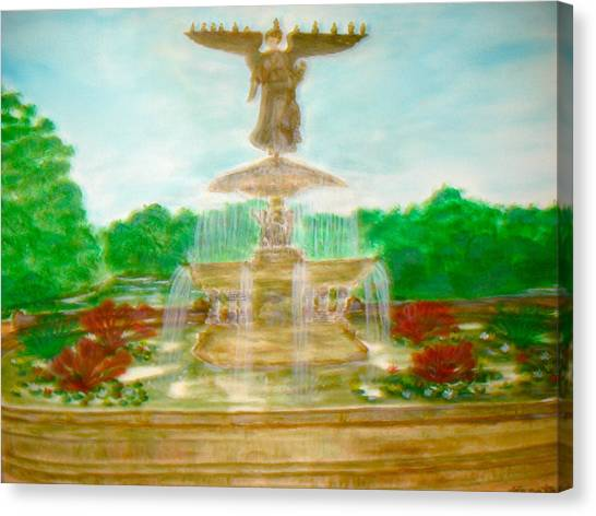 Bethesda Fountain Central Park Canvas Print