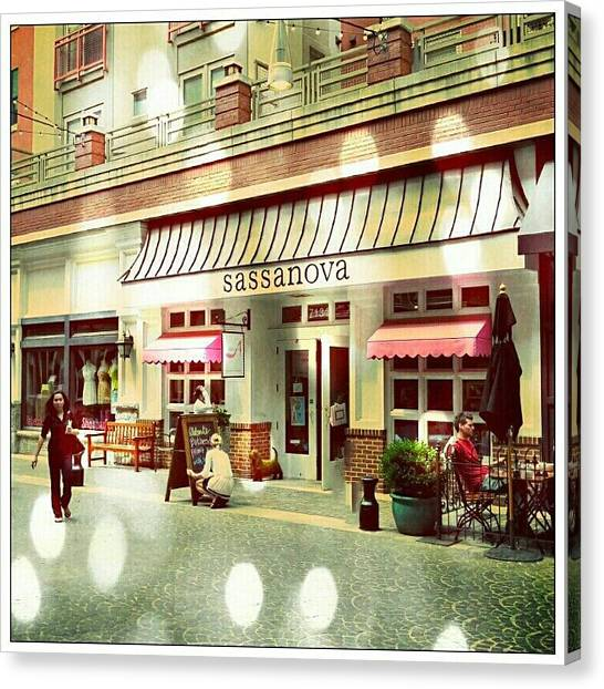 Canvas Print featuring the photograph Bethesda Row by Ryan Shapiro