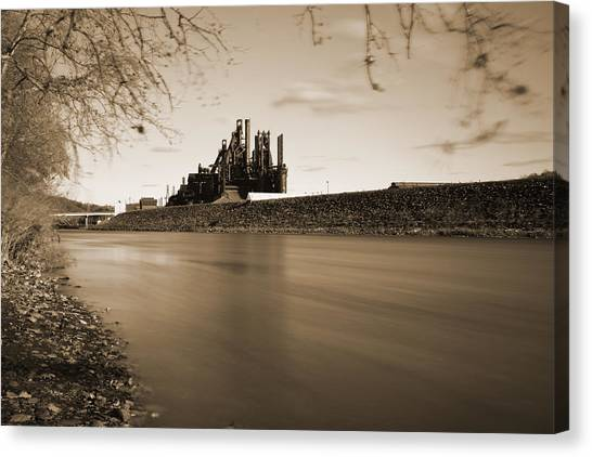 Bethlehem Steel Along The Lehigh Canvas Print