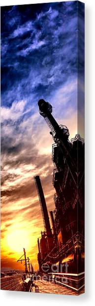 Sun Belt Canvas Print - Bethlehem Steel Glory by Olivier Le Queinec