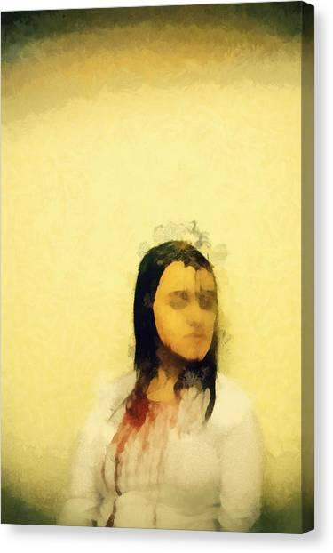 Satan Canvas Print - Betrayed By Mary Bassett by Mary Bassett