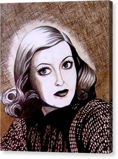Bette Davis 1941 Canvas Print