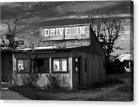 Better Days - An Old Drive-in Canvas Print