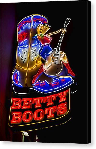 Betty Boots Canvas Print