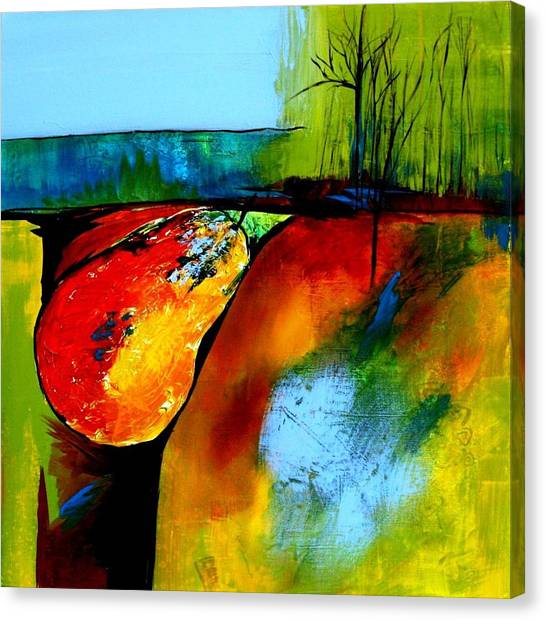 Between A Pear And A Rock Canvas Print by Jane Robinson