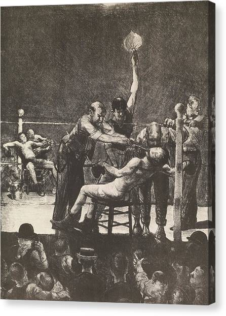 Knockout Canvas Print - Between Rounds No. 1 by George Bellows