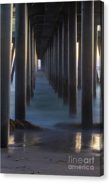 Between The Pillars  Canvas Print