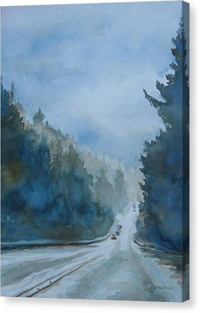 Between The Showers On Hwy 101 Canvas Print