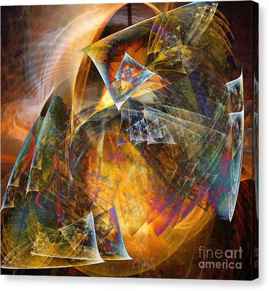 Between The Worlds 12 Canvas Print by Helene Kippert