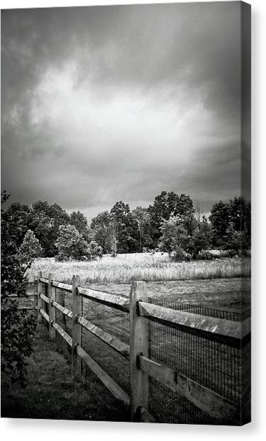 Storm Canvas Print - Between Two Neighbors by Trish Tritz
