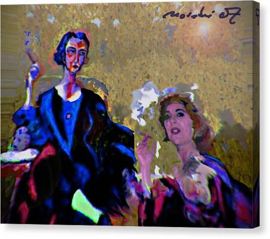 Between Us Gal Canvas Print by Noredin Morgan