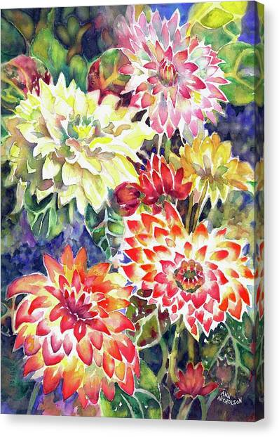 bety's Dahlias Canvas Print
