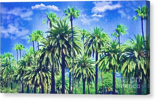 Beverly Hills Palms Canvas Print