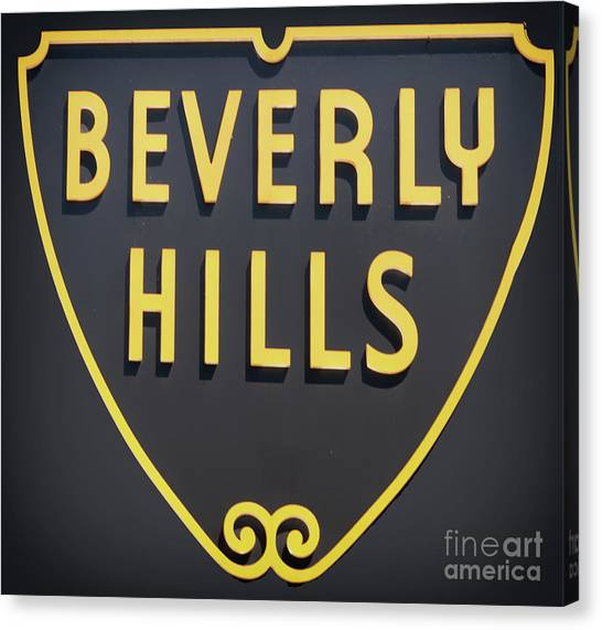 Beverly Hills Canvas Print - Beverly Hills Sign by Mindy Sommers