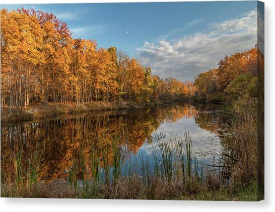 Beyer's Pond In Autumn Canvas Print