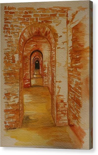 Beyond The Black Door Canvas Print by Julie Lueders