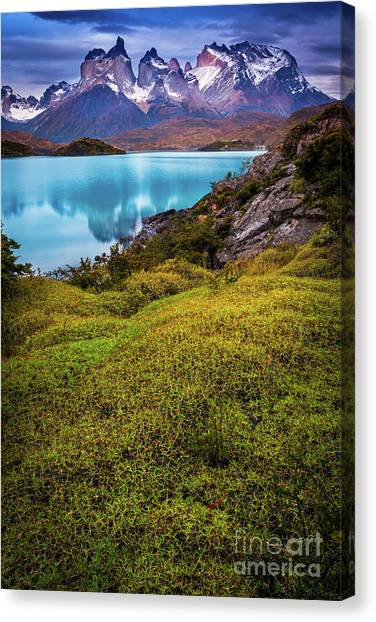 Andes Mountains Canvas Print - Beyond The Blue Depths by Inge Johnsson